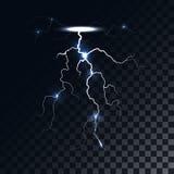 Vector lightning light effect Stock Image