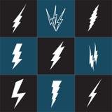 Vector lightning silhouette. Lightning Bolt icon. Stock Images