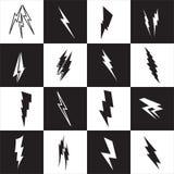 Vector lightning silhouette. Lightning Bolt icon. Royalty Free Stock Photos