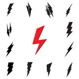 Vector lightning silhouette. Lightning Bolt icon. Stock Images
