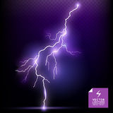 Vector Lightning special effect Royalty Free Stock Image