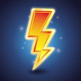 Vector lightning symbol Stock Photography