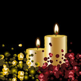 Vector lights background with candles. Lights background with candles - vector illustration Royalty Free Stock Photos