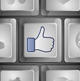 Vector like button Stock Photo
