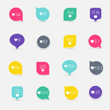 Vector Like Counter button icon set. Communication and network, Stock Image
