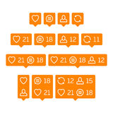 Vector like follower comment icon. Royalty Free Stock Photos