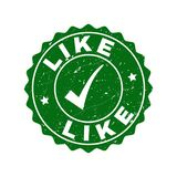 Like Grunge Stamp with Tick vector illustration