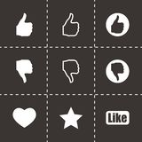 Vector like icon set Royalty Free Stock Photos
