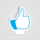 Vector like symbol. Vector illustration of thumb up like symbol Royalty Free Stock Images