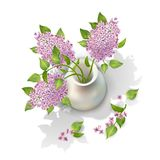 Vector Lilac in Vase Royalty Free Stock Photo