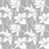 Vector lilly naadloos patroon royalty-vrije illustratie