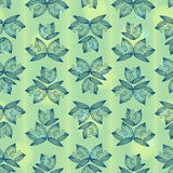 Vector lily of the valley pattern Royalty Free Stock Photos