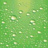 Vector lime-green water bubbles. Detailed water bubbles on glass surface Stock Photo