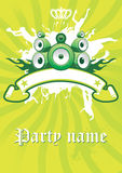 Vector Lime Retro Poster. For Party Royalty Free Stock Images