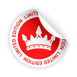 Vector limited edition bent sticker. Vector red bent sticker with symbol of limited edition Stock Illustration