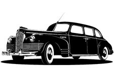 Vector limousine silhouette. Vector detailed vintage limousine silhouette. Available eps-8  format Royalty Free Stock Photos