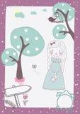 Vector lindo de la muchacha libre illustration