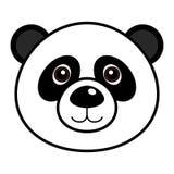 Vector lindo de la panda Imagenes de archivo