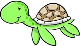 Vector lindo de la tortuga de mar ilustración del vector