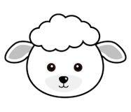 Vector lindo de las ovejas Imagen de archivo