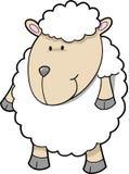 Vector lindo de las ovejas stock de ilustración