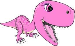 Vector lindo de T-Rex del dinosaurio Foto de archivo