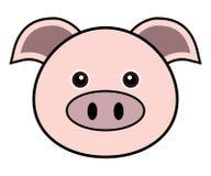 Vector lindo del cerdo Imagen de archivo