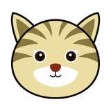 Vector lindo del gato Imagen de archivo