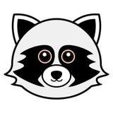 Vector lindo del mapache Fotos de archivo libres de regalías