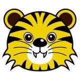Vector lindo del tigre Imagenes de archivo