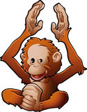 Vector lindo Illustr del orangután stock de ilustración