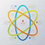 Vector line area technology infographic template background Royalty Free Stock Photography