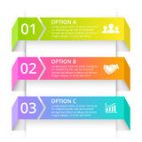 Vector line arrows infographic. Template for 3d Stock Photo