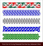 Ukiran Khas Irian Jaya Vector Line Art Carving Ornamental from Irian Jaya, Indonesian Culture. Vector Line Art Carving Ornamental from Irian Jaya, Indonesian Royalty Free Stock Photos