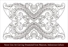 Vector Line Art Carving Ornamental from Mataram, Indonesian Culture Vector Line Art Carving Ornamental from Mataram, Indonesian Cu. Lture Royalty Free Stock Images