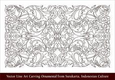Seni Ukir Surakarta Vector Line Art Carving Ornamental from Surakarta, Indonesian Culture. Vector Line Art Carving Ornamental from Surakarta, Indonesian Culture Stock Image