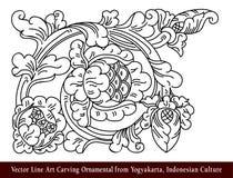 Seni Ukir Yogyakarta Vector Line Art Carving Ornamental from Yogyakarta, Indonesian Culture. Vector Line Art Carving Ornamental from Yogyakarta, Indonesian Royalty Free Stock Images