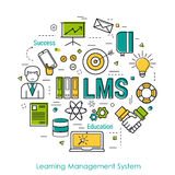 Vector Line Art Concept of LMS Stock Images