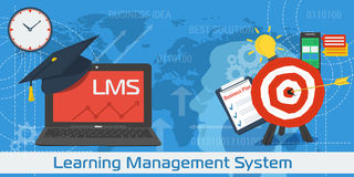 Vector Line Art Concept of LMS Stock Image