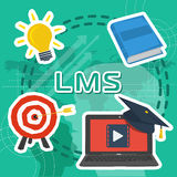 Vector Line Art Concept of LMS Royalty Free Stock Images