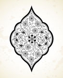Vector line art decor in Eastern style. Stock Image