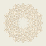 Vector line art frame in Eastern style. Royalty Free Stock Photo