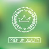 Vector line badge and logo Royalty Free Stock Photography