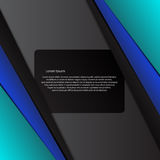 Vector line blue colour card abstract background design eps 10 Royalty Free Stock Photos