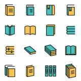 Vector line book icon set Stock Image