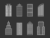 Vector line buildings Stock Images