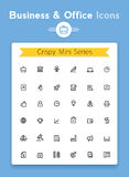 Vector line business and office tiny icon set Stock Image