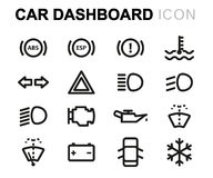 Vector line car dashboard icons set Royalty Free Stock Photo