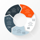 Vector line circle arrows infographic. Template Royalty Free Stock Photos