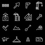 Vector line construction icon set Royalty Free Stock Image